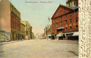 MA - Fitchburg. Railroad Square