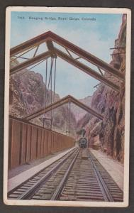 Train Approaching The Hanging Bridge In The Royal Gorge, Colorado - Unused