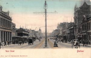 South Africa Durban West Street postcard