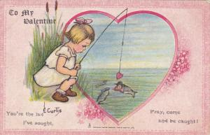 Valentine's Day Young Girl Fishing