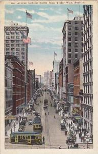 2nd Avenue Looking North From Yesler Way, Empire Building, Etc., Seattle, Was...