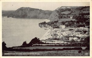 Sidmouth from Salcombe Hill Panoramic view Postcard