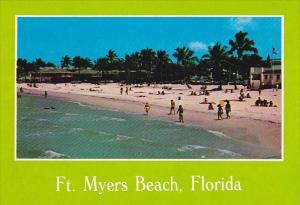 Beach With Municipal Building Fort Myers Beach Florida