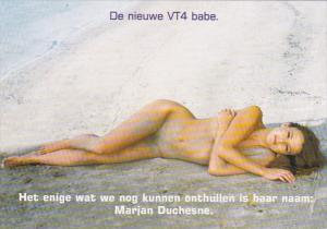 Nude Risque Topless Marjan Duchesne Laying On Beach The New VT4 Babe