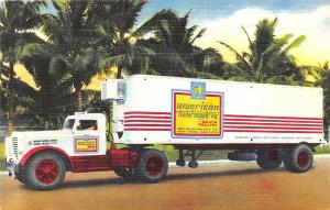 Miami, New York & Atlanta GA American Hotel Supply  Trailer Truck Linen Postcard
