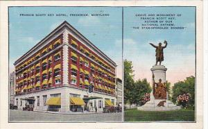 Francis Scott Key Hotel and Monument Baltimore Maryland