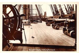 Sailing Ship, Quarterdeck, looking forward, Cannon Guns