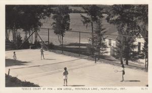 RP: HUNTSVILLE , Ontario, Canada, 1949 ; Tennis Court, POW-WOW Lodge