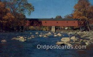 West Cornwall, VT USA Covered Bridge 1968 postal used 1968
