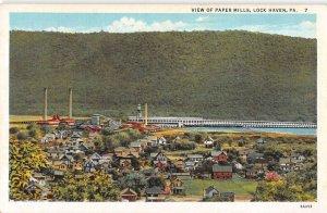 Lock Haven Pennsylvania Paper Mills Scenic View Vintage Postcard AA16741