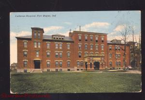 FORT WAYNE INDIANA LUTHERAN HOSPITAL ANTIQUE VINTAGE POSTCARD 1911