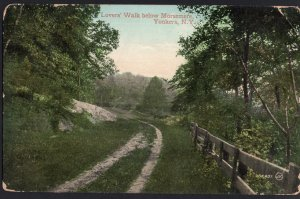 New York ~ YONKERS Lovers' Walk below Morsemere - Vintage DB - pm1900s