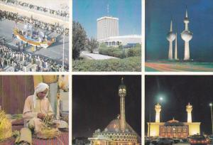 KUWAIT , 1980 ; 6-view postcard