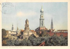 Hamburg Die Turme der Stadt Denkmal Monument Church Tower Panorama