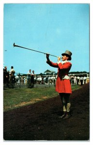 Calling to the Post, Monmouth Park Race Track, Oceanport, NJ Postcard *6S(3)12