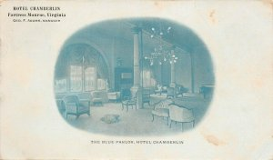 LPS50 Fortress Monroe Virginia Hotel Chamberlin Blue Parlor Private Mailing Card