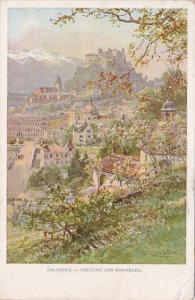 Austria Salzburg Festung und Nonnberg 1917