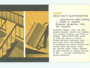 Pre-1980 Postcard Ad GRIP HEAVY-DUTY SLIP PROOF FLOORING AC7301