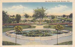 Nebraska Kearney Lily Pool Harmon Park 1943