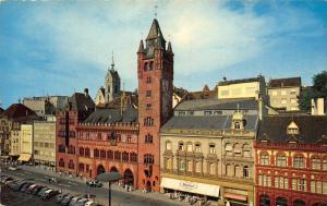 Switzerland Basel L'Hotel de Ville Town Hall Street Vintage Cars Postcard