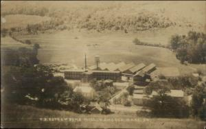 Hancock MA Estes & Sons Mill Factory c1920 Real Photo Postcard