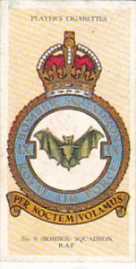 Cigarette Card Player and Sons R AF Badges 1937 No 4 #9 Bomber Squadron