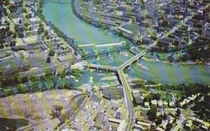 Ohio Zanesville Famous Y Bridge From The Air
