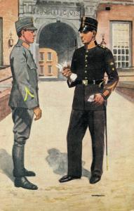 Military postcard Koninklijke Militaire Academie 02.14