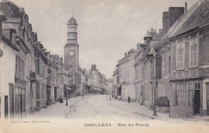 Doullens Rue Du Bourg Old French Postcard