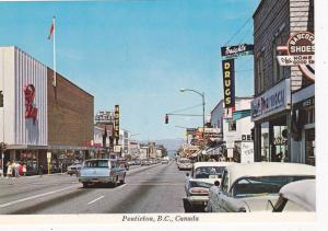 Main Business Section Of Penticton, Overlooking The Okanagan Lake, Drug Store...