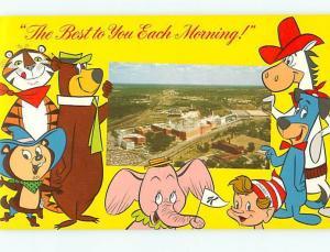 Kellogg Company Battle Creek Cereals Characters tony tiger yogi Postcard  # 8425