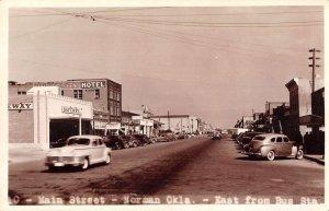 Norman Oklahoma Main Street Real Photo Vintage Postcard AA13001