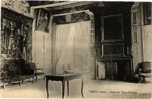 CPA Virieu - Salon de Vieux Chateau (296089)