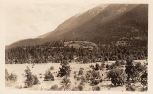 RP; Cayoosh Creek in Flood , B.C. , Canada , PU-1960