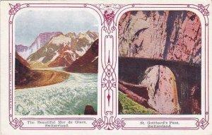 Schweiz St Gotthard's Pass & Mer de Glace