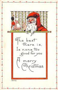 Santa Claus Christmas Old Vintage Antique Postcard