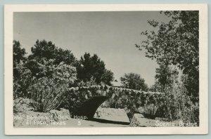 El Paso TX Bridge~Beaumont Hospital~Cpl Woods, Soldier Mail to Mother~RPPC 1968