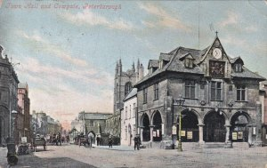 PETERBOROUGH , England , PU-1905 ; Town Hall & Cowgate