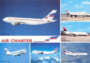 Aircraft Airline Postcard Air Charter Fleet Multi View 97C