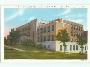 Unused Linen ADMIN BUILDING AT ARKANSAS STATE COLLEGE Jonesboro AR Q3136-12