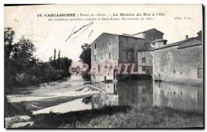 Postcard Old water mill mill Carcassonne The king of & # 39Ile