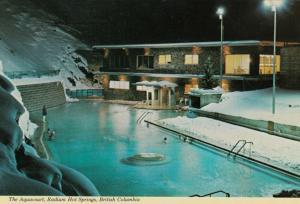 RADIUM HOT SPRINGS , B.C. , 50-70s ; Aquacourt at night