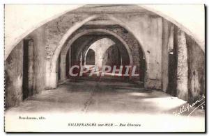 Old Postcard Villefranche sur Mer Rue Obscure
