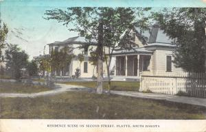Platte SD Italianate & Cottage Homes~2nd Street~Porch Pillars~Picket Fence c1910