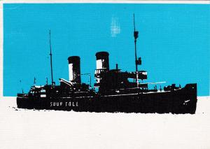Russian Ice Breaker ship SUUR TOLL out of Tallinn, Estonia, PU-1930s-40s