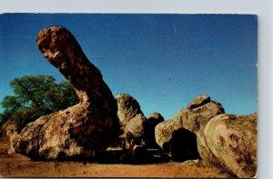 New Mexico City Rocks Dinosaur Rock 1956