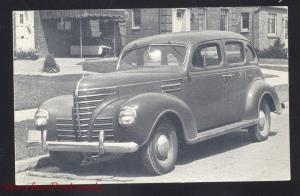 1939 PLYMOUTH MCPHERSON KANSAS VINTAGE CAR DEALER ADVERTISING POSTCARD '39