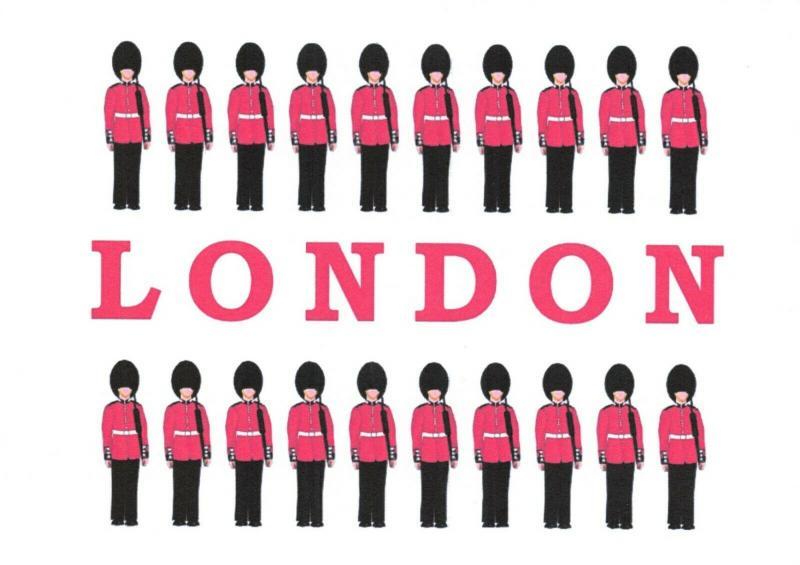 Pack of 10 NEW London Postcards, Royal Guardsmen Guard 22O