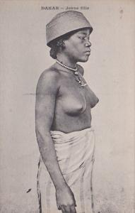 Africa Nude Topless Senegal Dakar Jeune fille