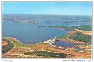 Air View Lake Normand-Cowans Ford Dam near Piedmont North Carolina NC , Chrome